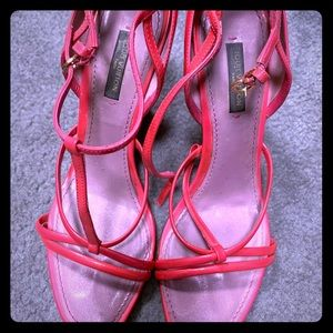 Louis Vuitton hot pink wedges
